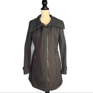 Avanti Dark Gray with Gold Zipper Side Knit Jacket